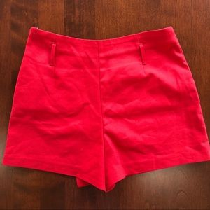 Zara Shorts - Zara red envelope skort